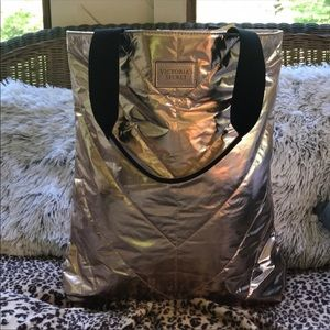 Victoria's Secret Gold Foil Tote